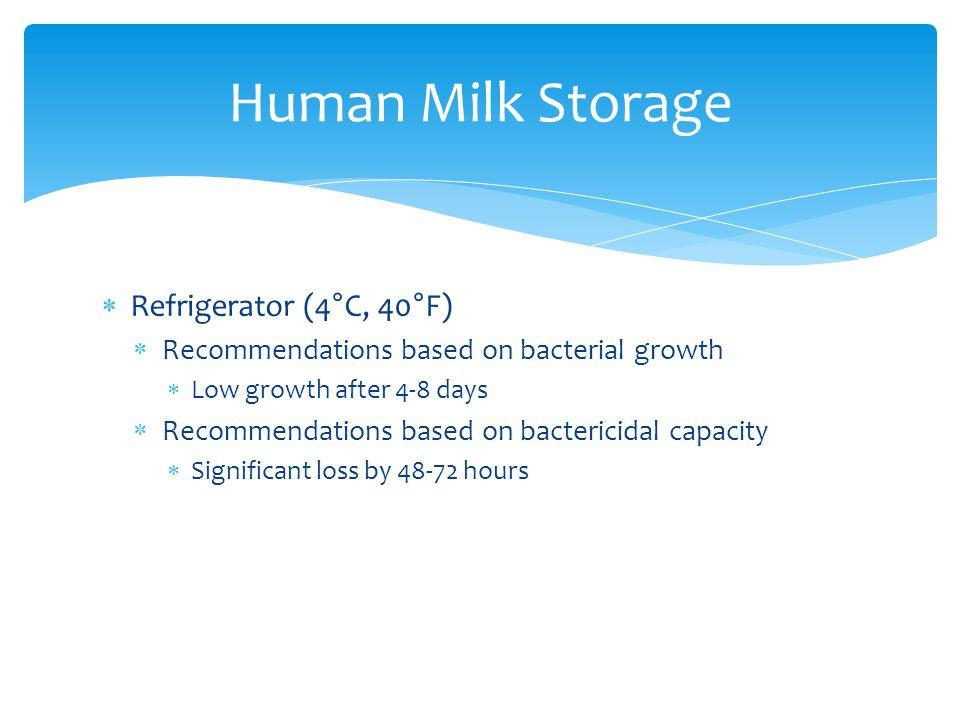 Human Milk Storage Refrigerator (4°C, 40°F)