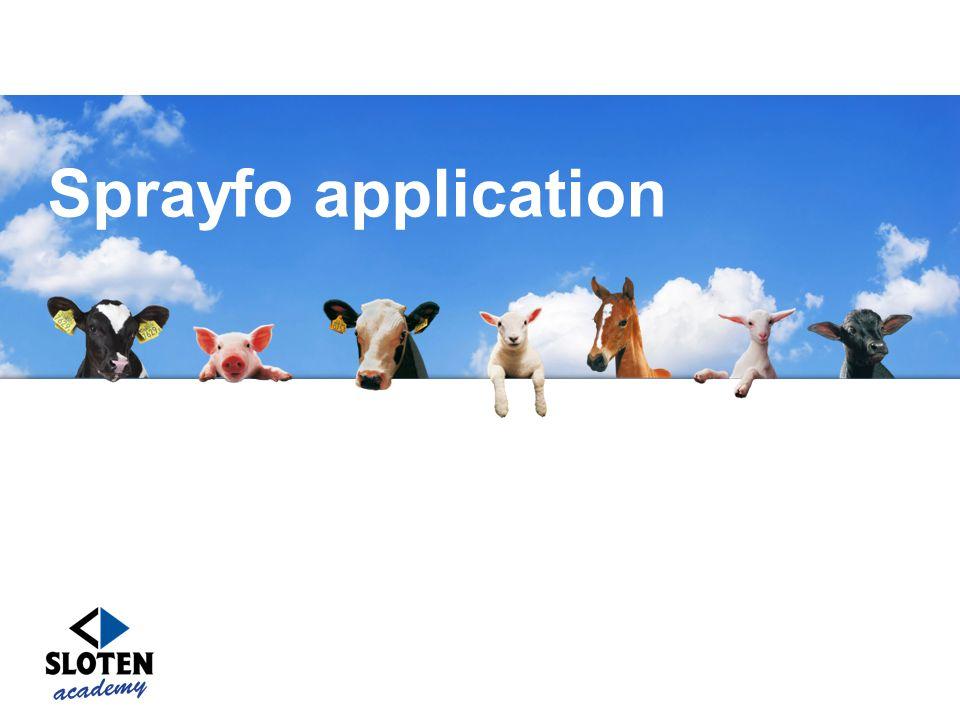 Sprayfo application