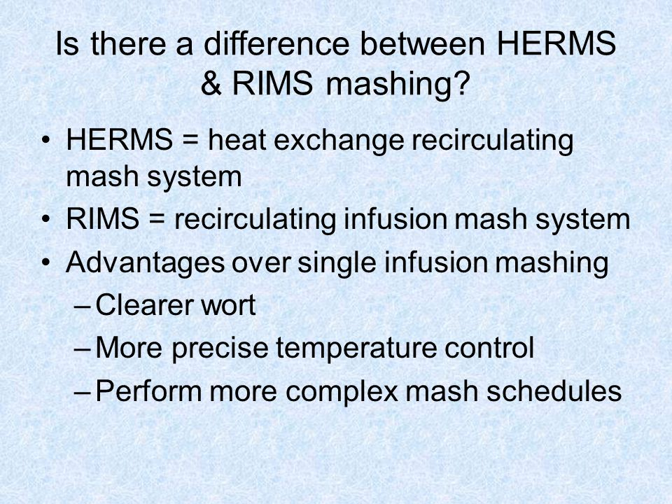 Is there a difference between HERMS & RIMS mashing