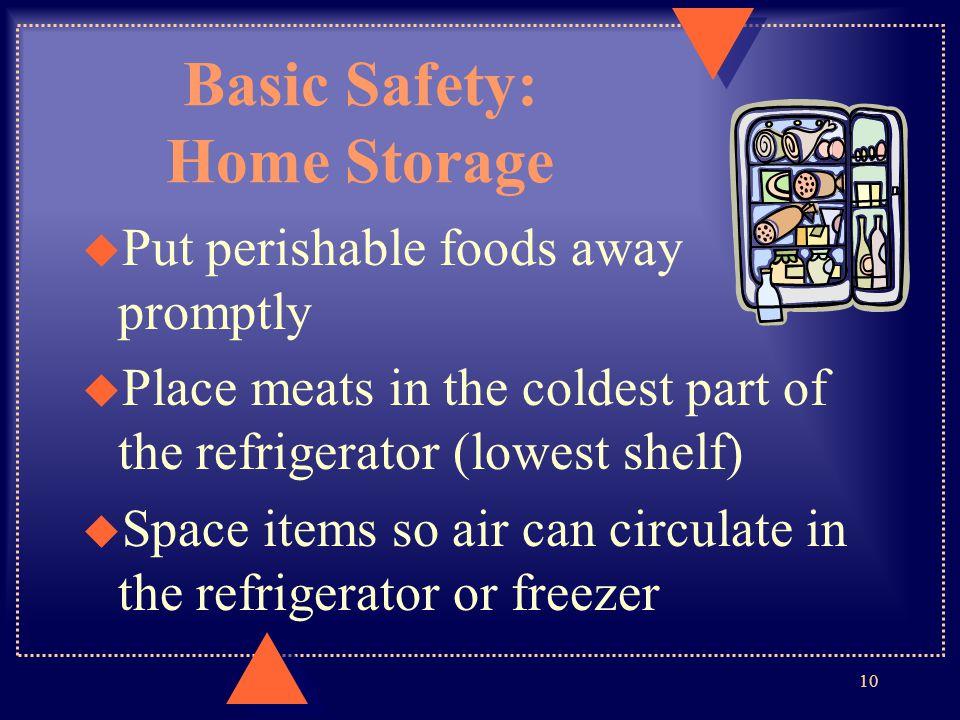 Basic Safety: Home Storage