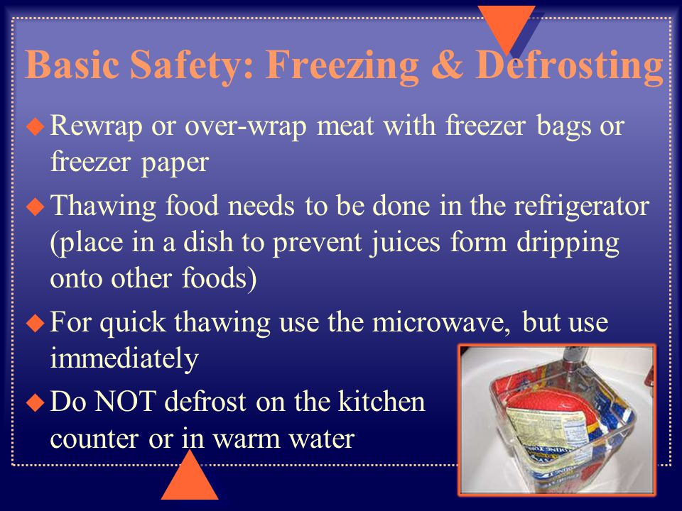 Basic Safety: Freezing & Defrosting