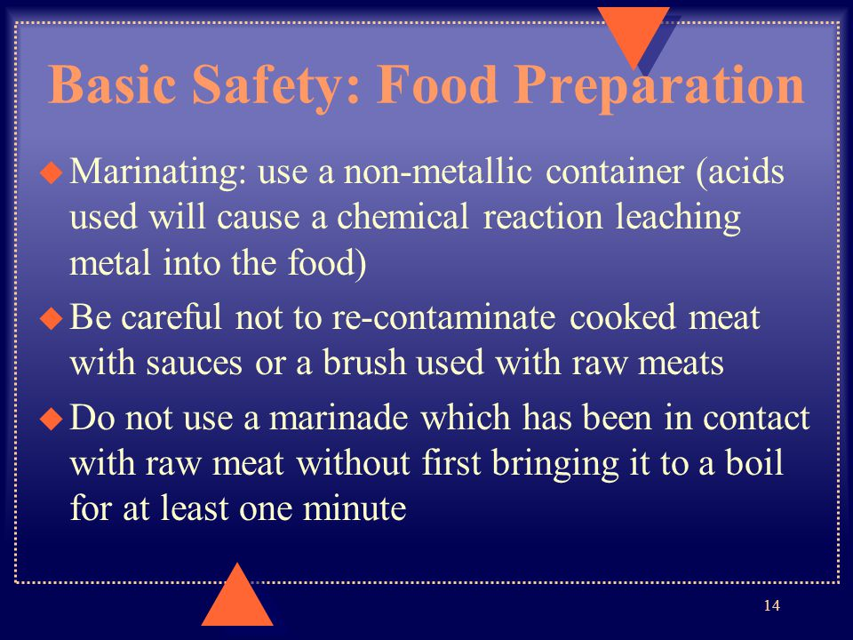 Basic Safety: Food Preparation
