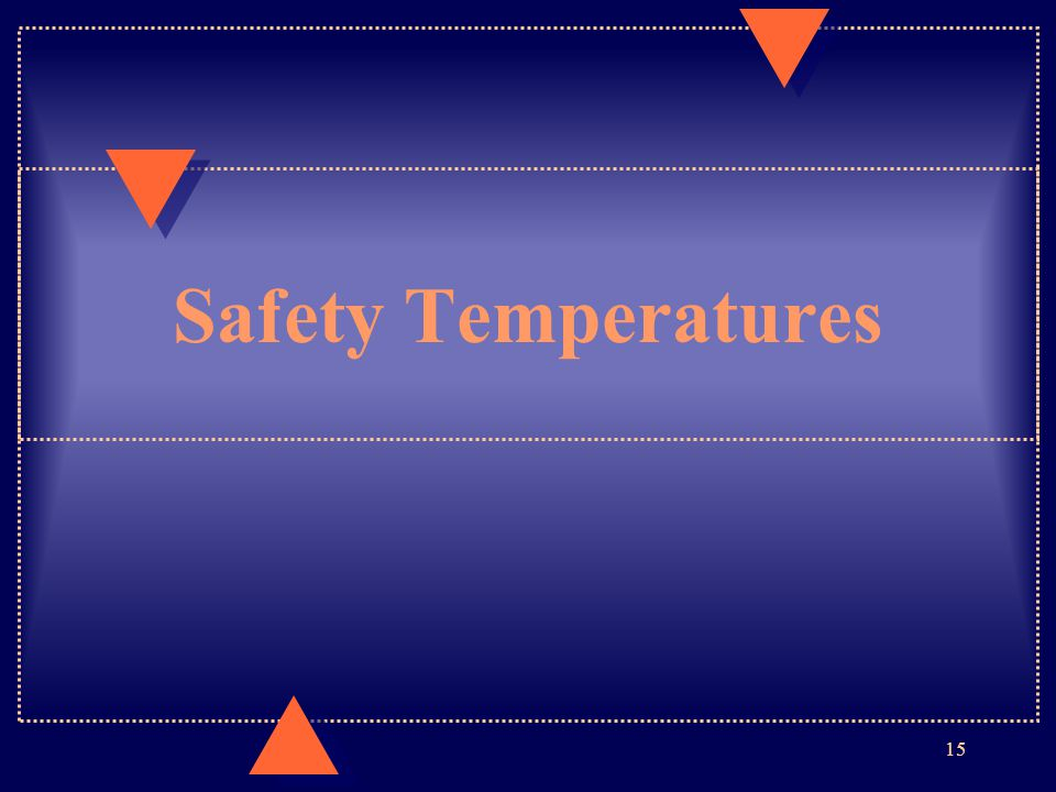 Safety Temperatures