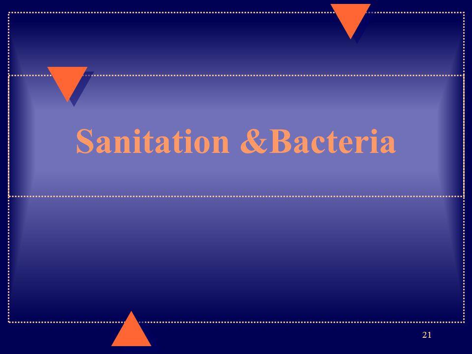 Sanitation &Bacteria