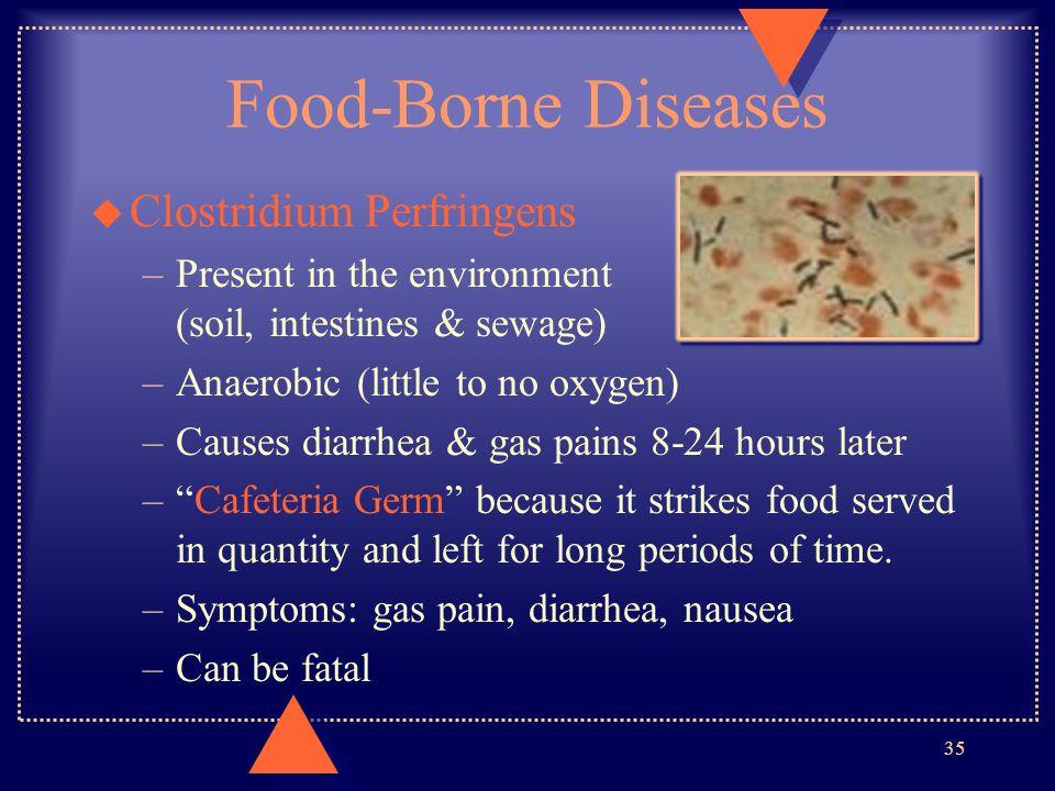 Food-Borne Diseases Clostridium Perfringens