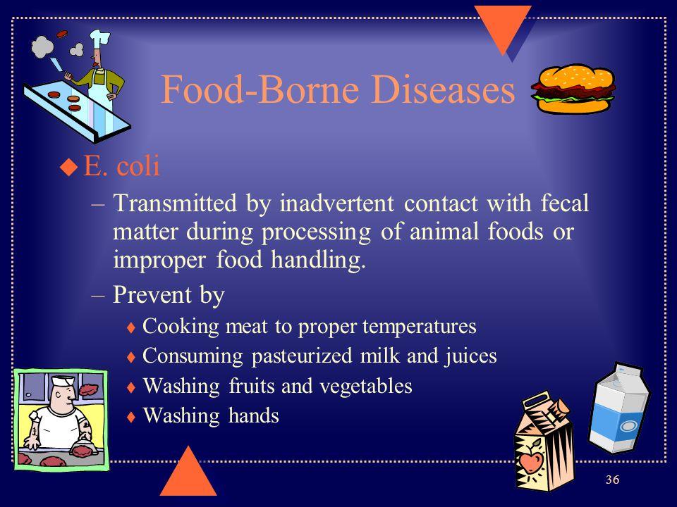 Food-Borne Diseases E. coli