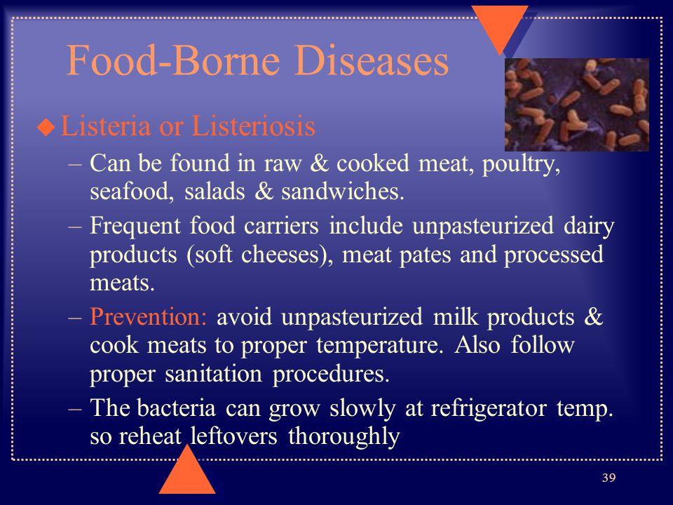 Food-Borne Diseases Listeria or Listeriosis