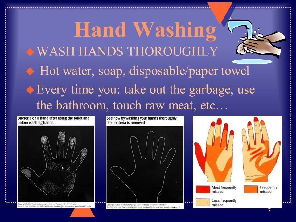 Hand Washing WASH HANDS THOROUGHLY