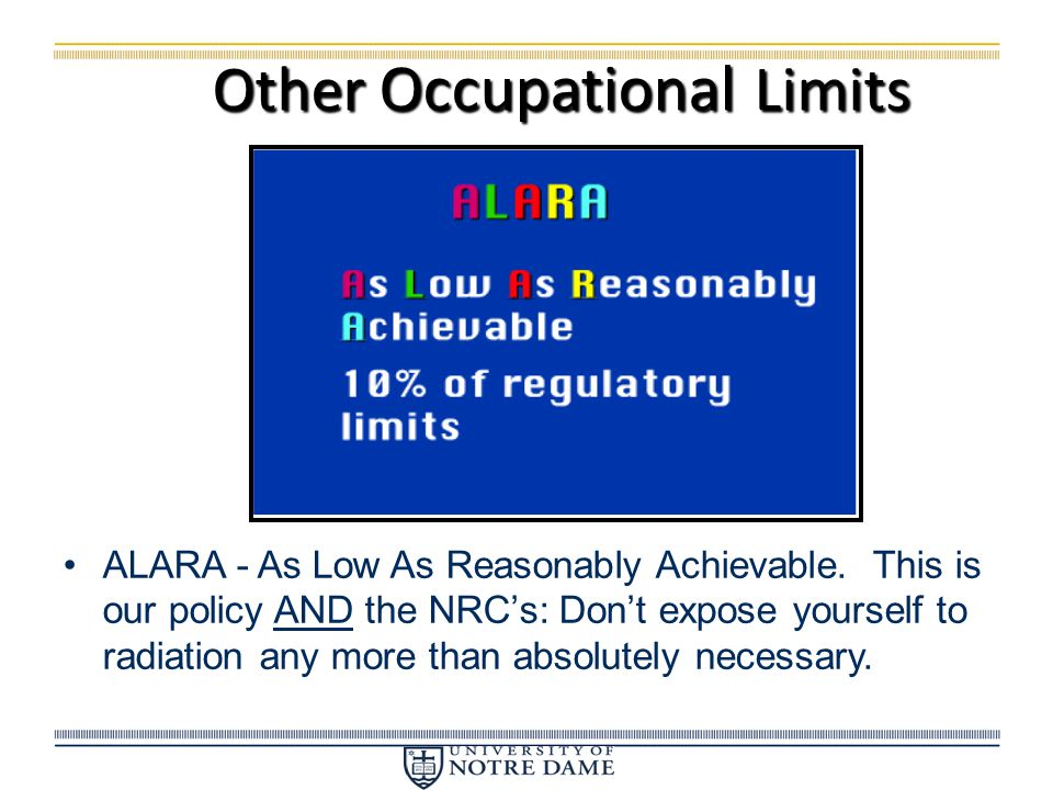 Other Occupational Limits