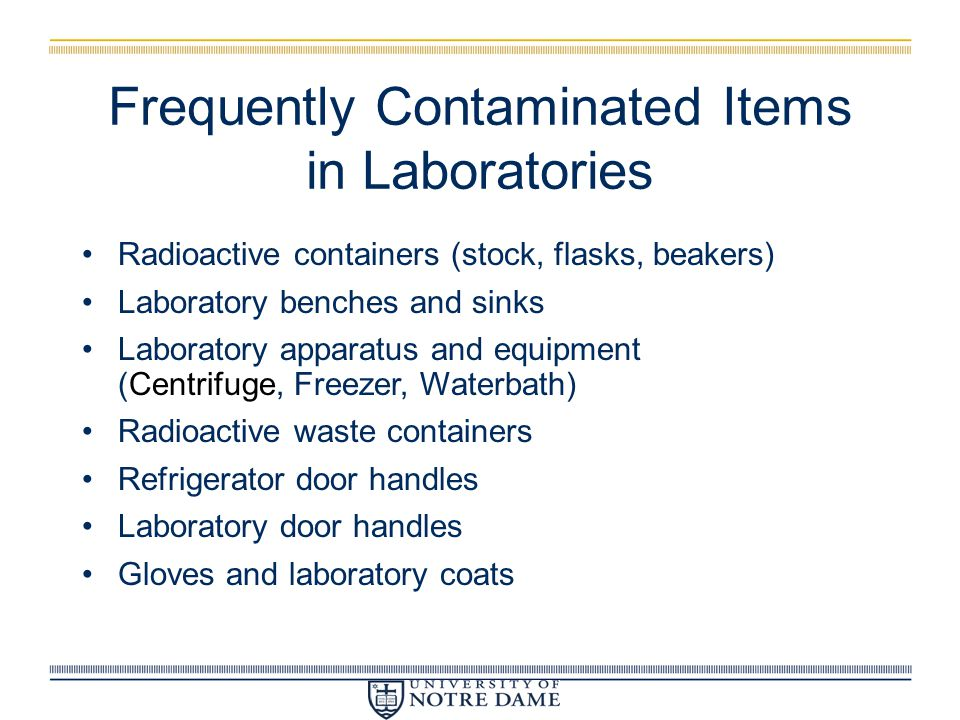 Frequently Contaminated Items in Laboratories