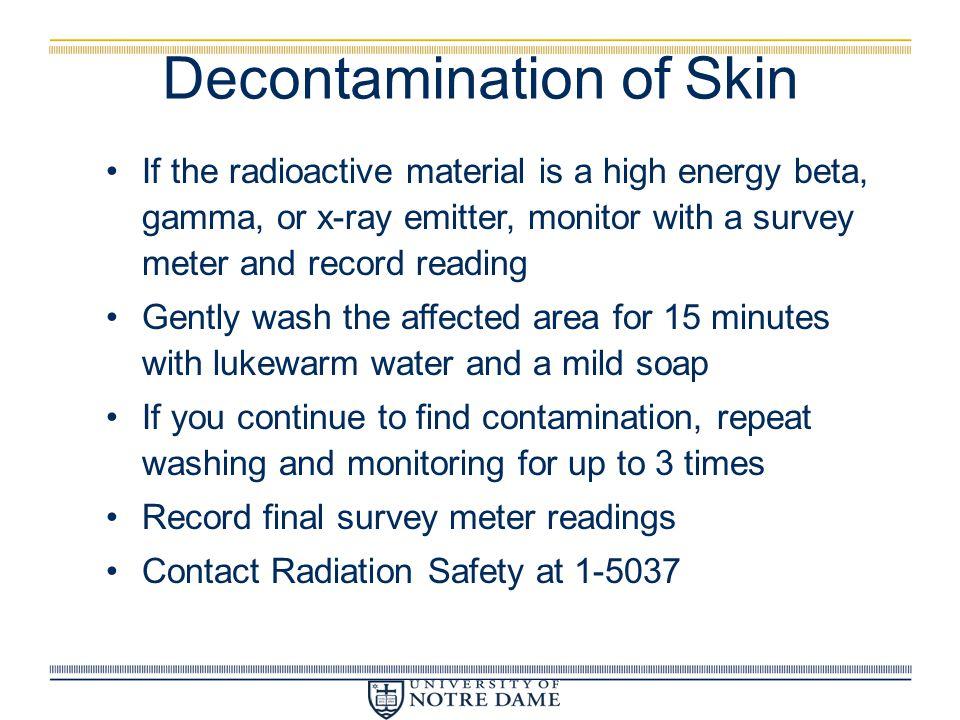 Decontamination of Skin