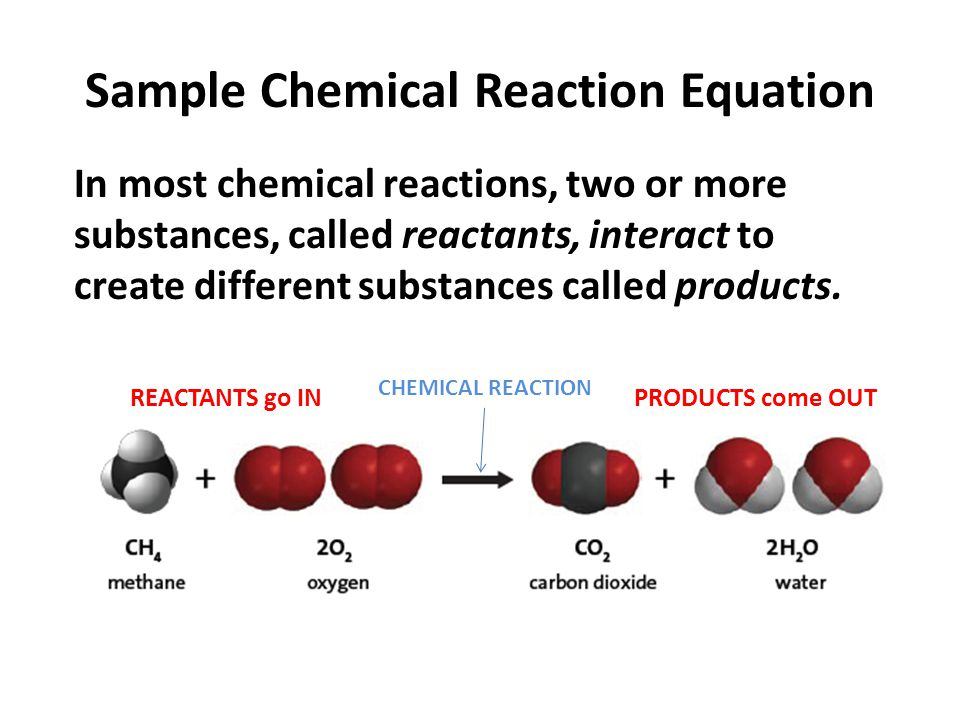 Sample Chemical Reaction Equation