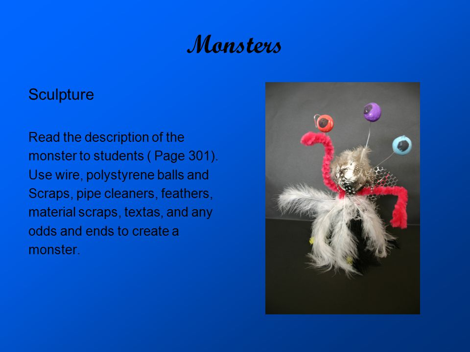 Monsters Sculpture Read the description of the
