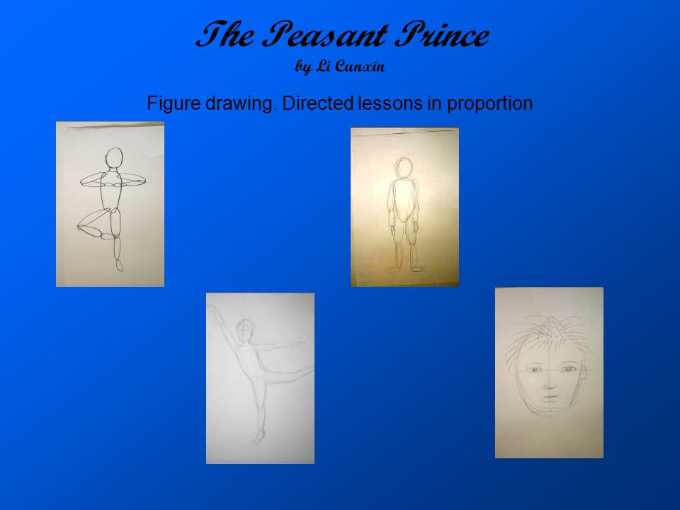 The Peasant Prince by Li Cunxin Figure drawing