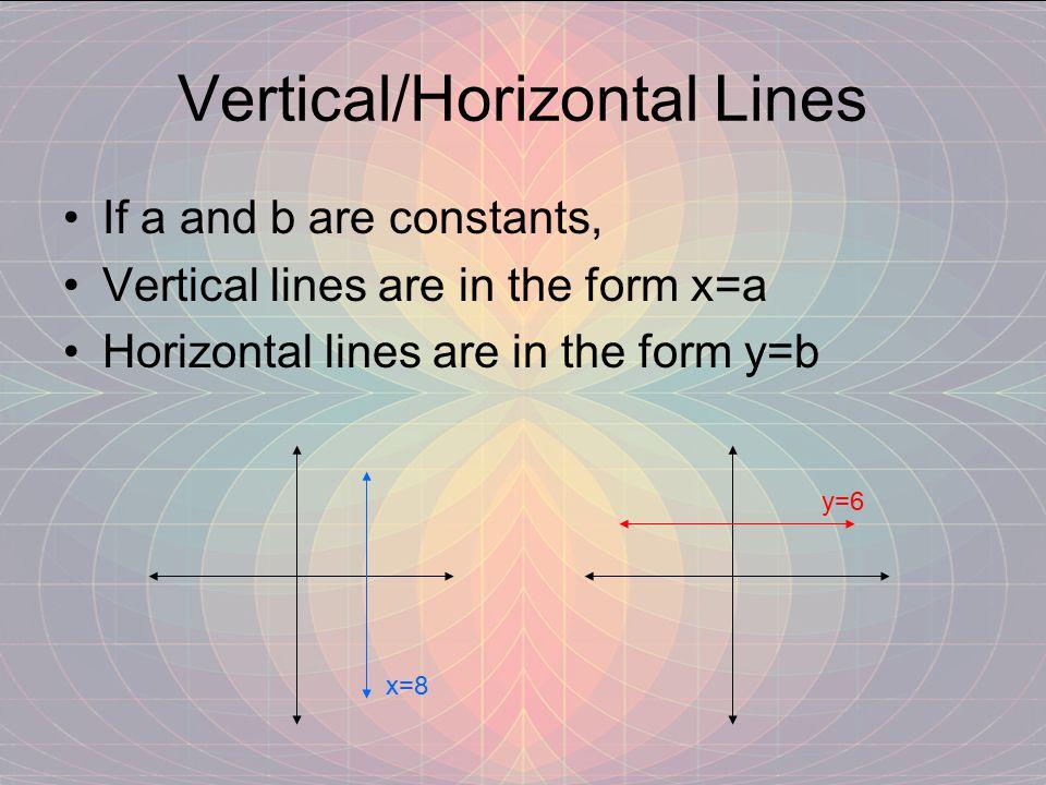 Vertical/Horizontal Lines