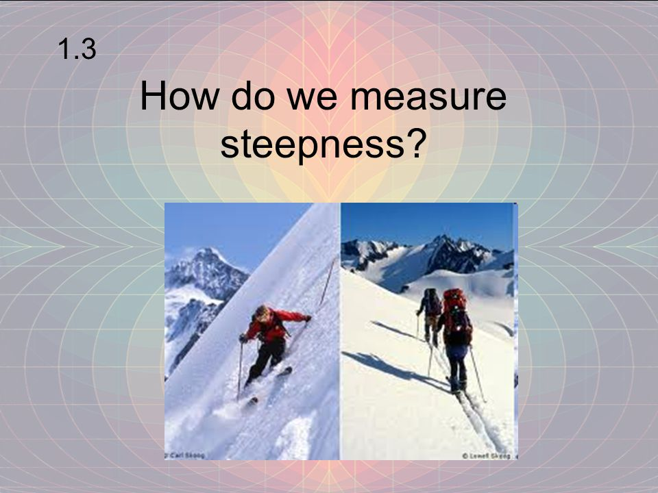 How do we measure steepness