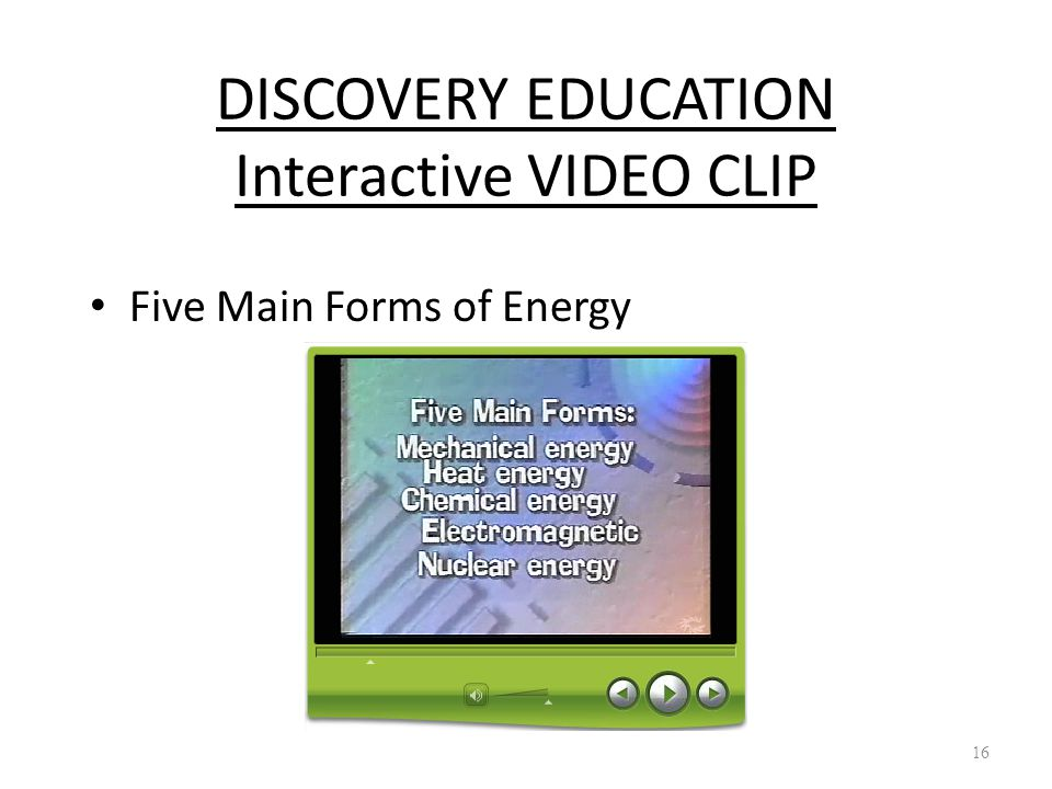 DISCOVERY EDUCATION Interactive VIDEO CLIP