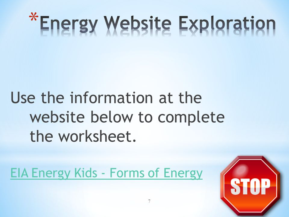 Energy Website Exploration