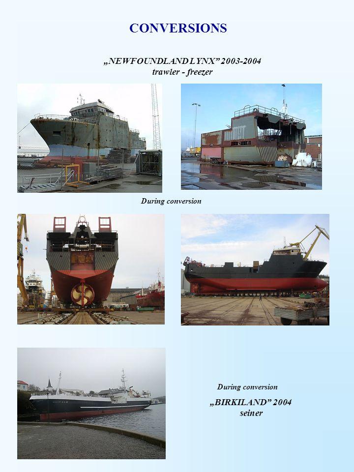 """""""NEWFOUNDLAND LYNX 2003-2004 trawler - freezer"""