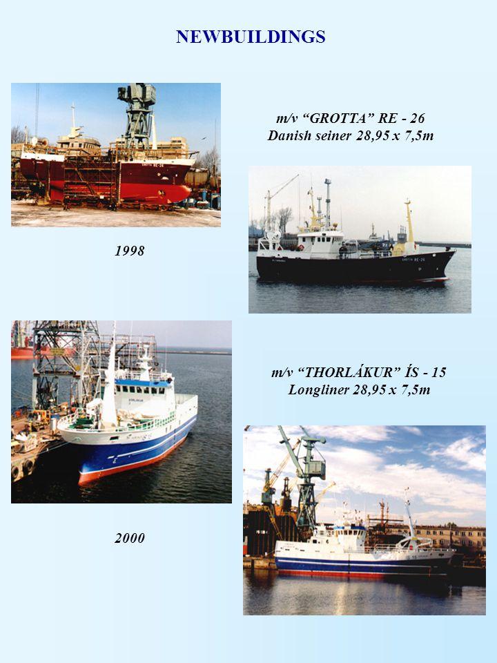 NEWBUILDINGS m/v GROTTA RE - 26 Danish seiner 28,95 x 7,5m 1998