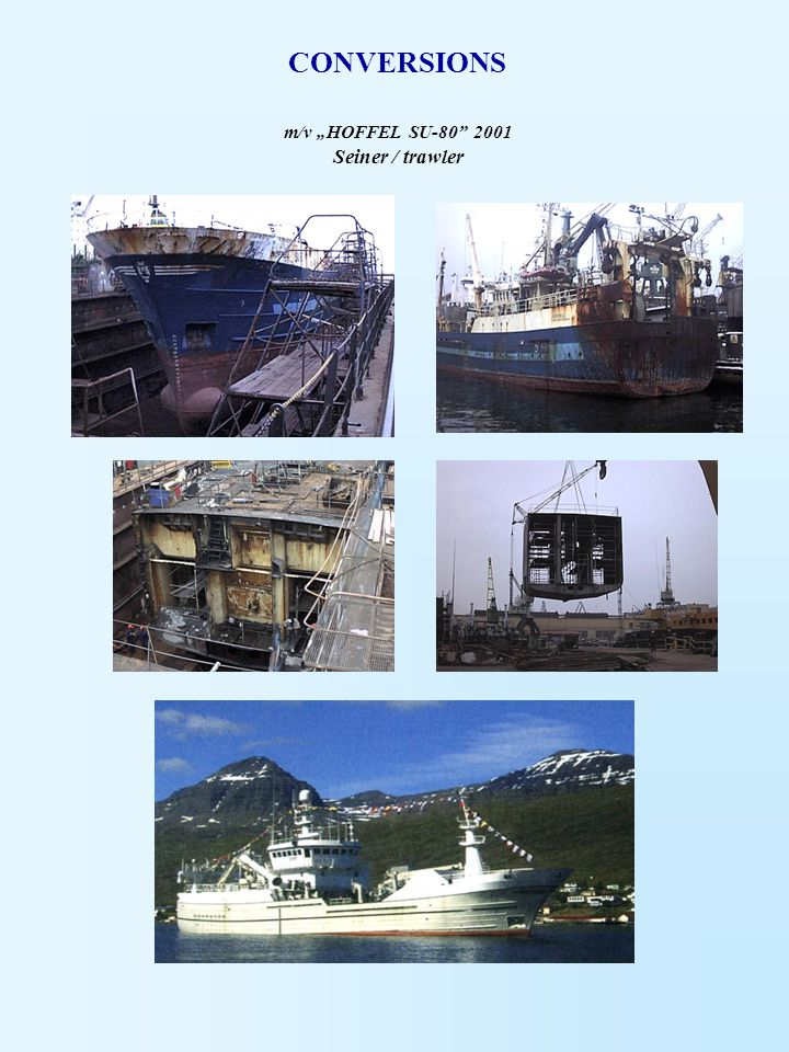 """m/v """"HOFFEL SU-80 2001 Seiner / trawler"""