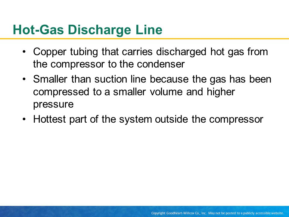 Hot-Gas Discharge Line