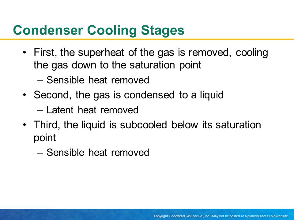 Condenser Cooling Stages