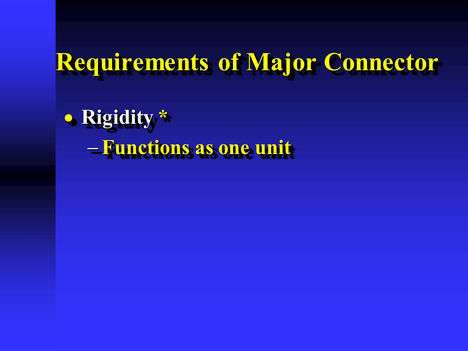 Requirements of Major Connector