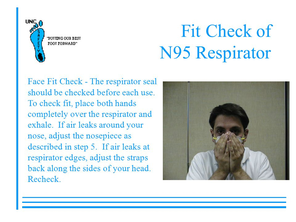 Fit Check of N95 Respirator