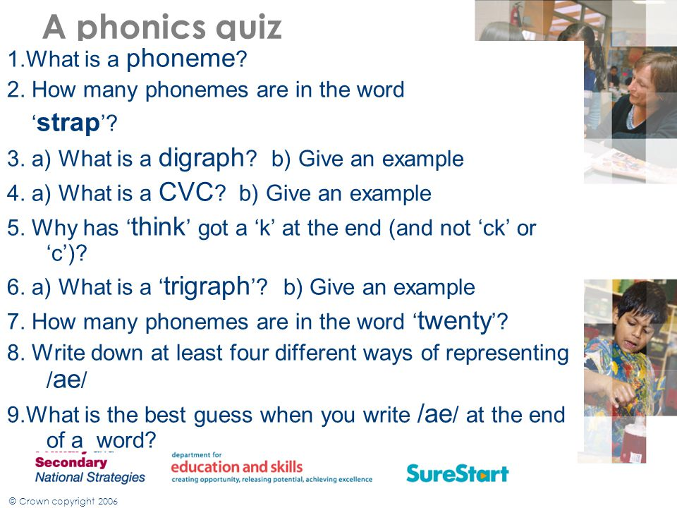 A phonics quiz 1.What is a phoneme