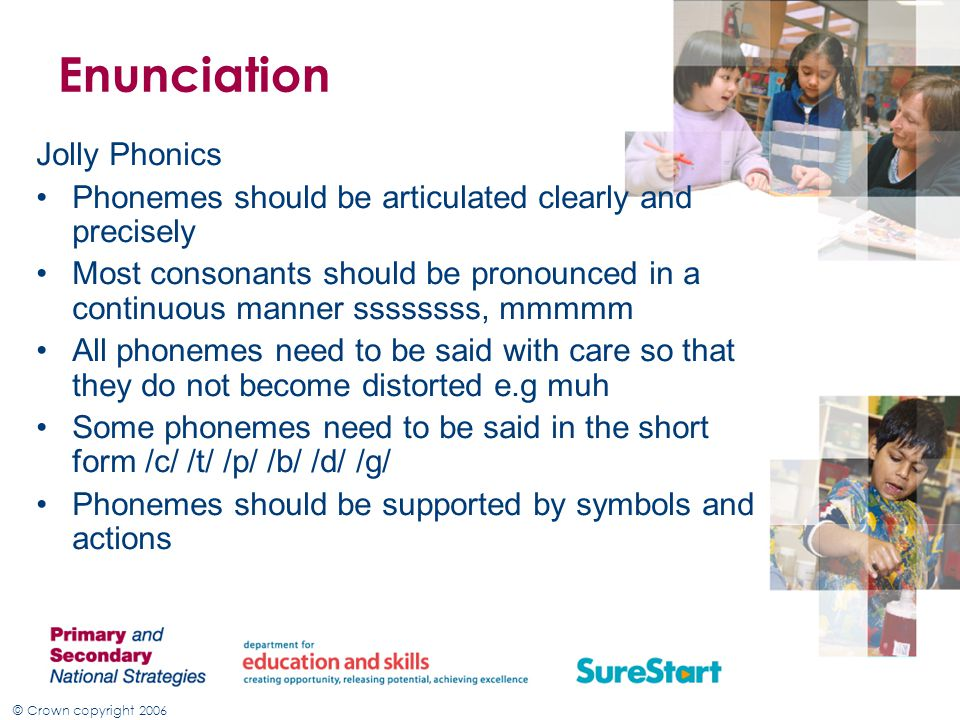 Enunciation Jolly Phonics