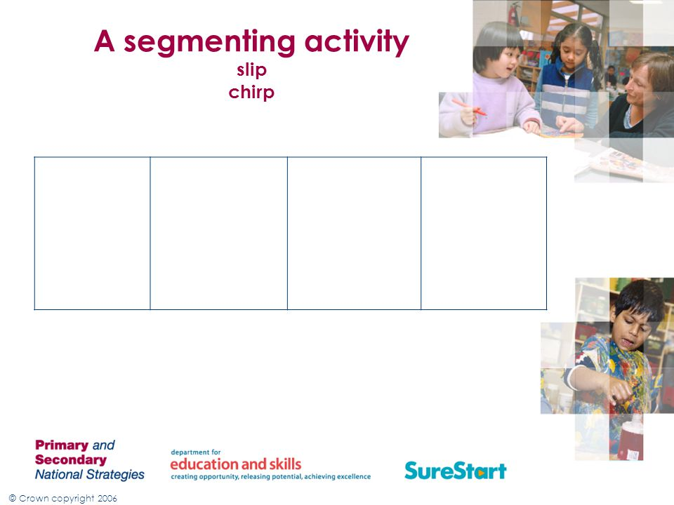 A segmenting activity slip chirp