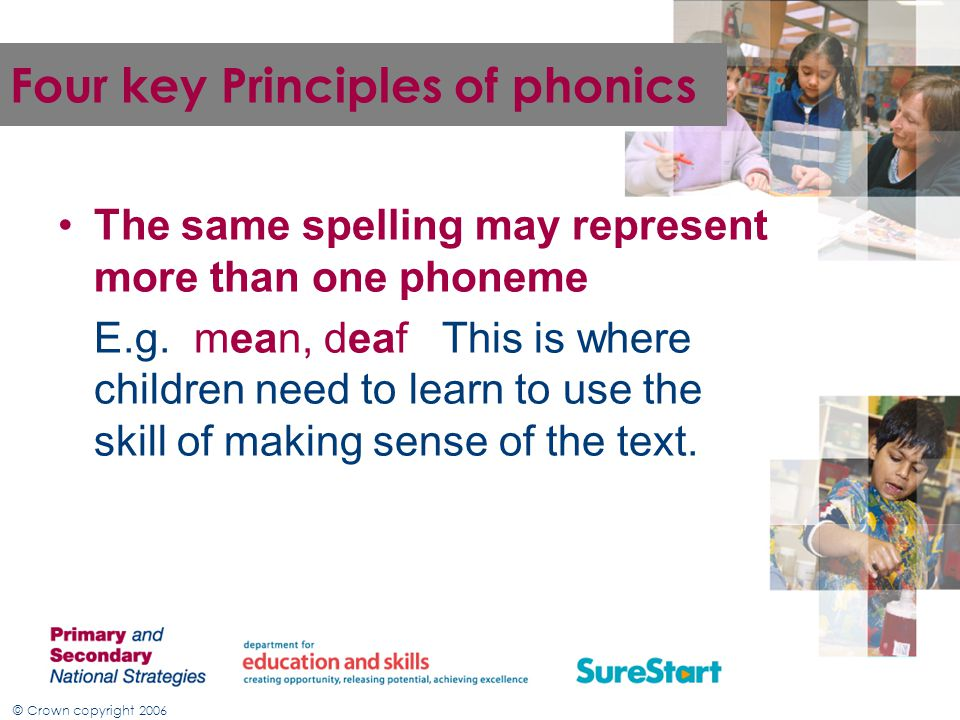 Four key Principles of phonics