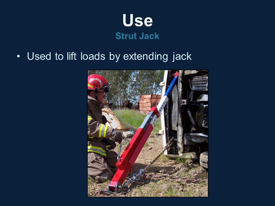 Use Strut Jack Used to lift loads by extending jack