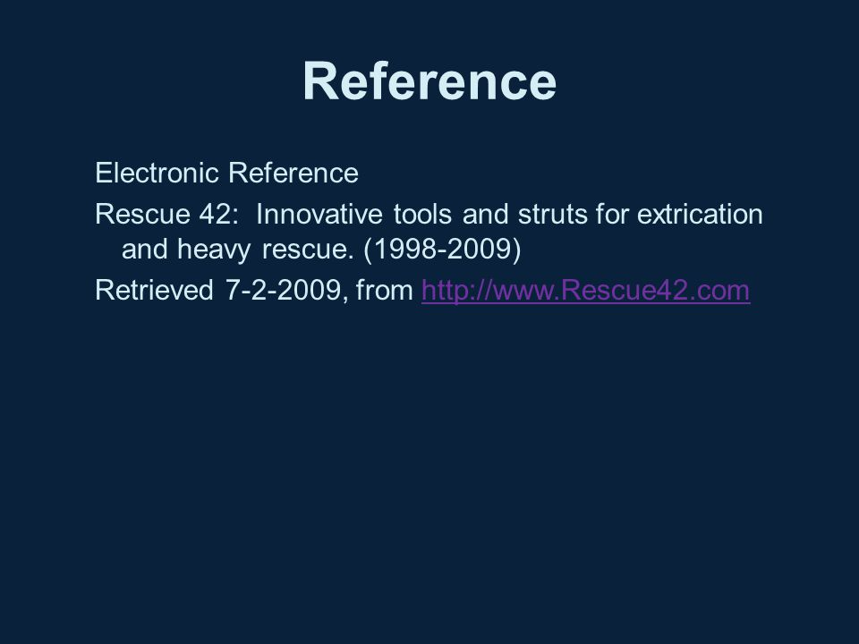 Reference Electronic Reference