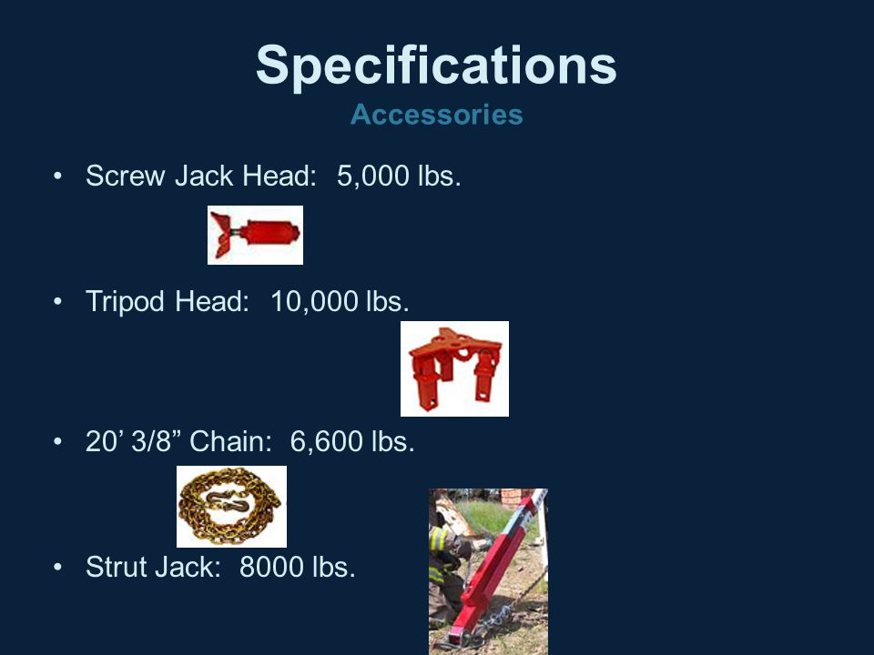 Specifications Accessories
