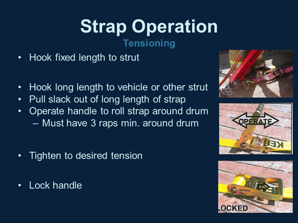 Strap Operation Tensioning