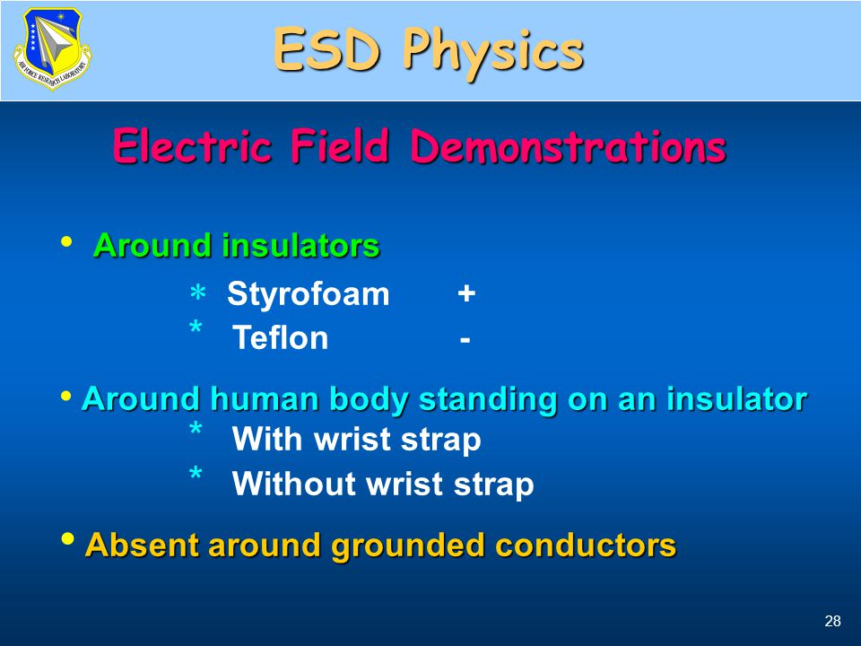 Electric Field Demonstrations