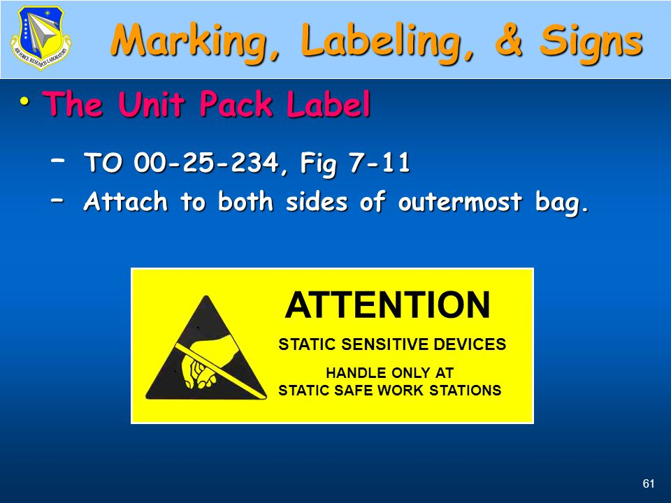 Marking, Labeling, & Signs