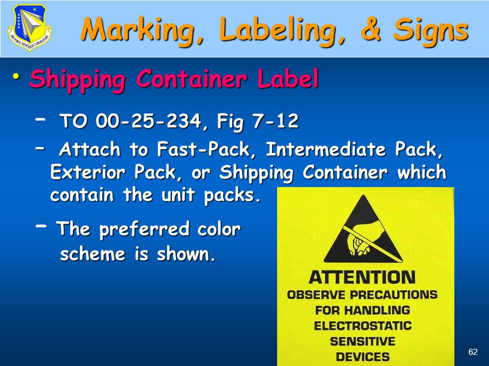Shipping Container Label