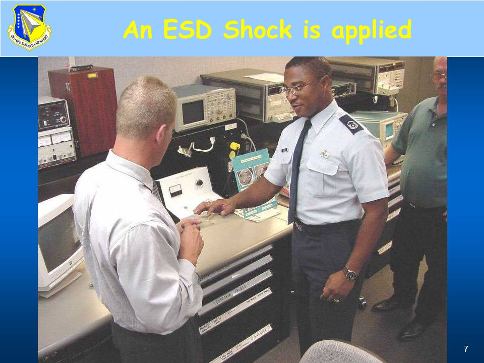 An ESD Shock is applied