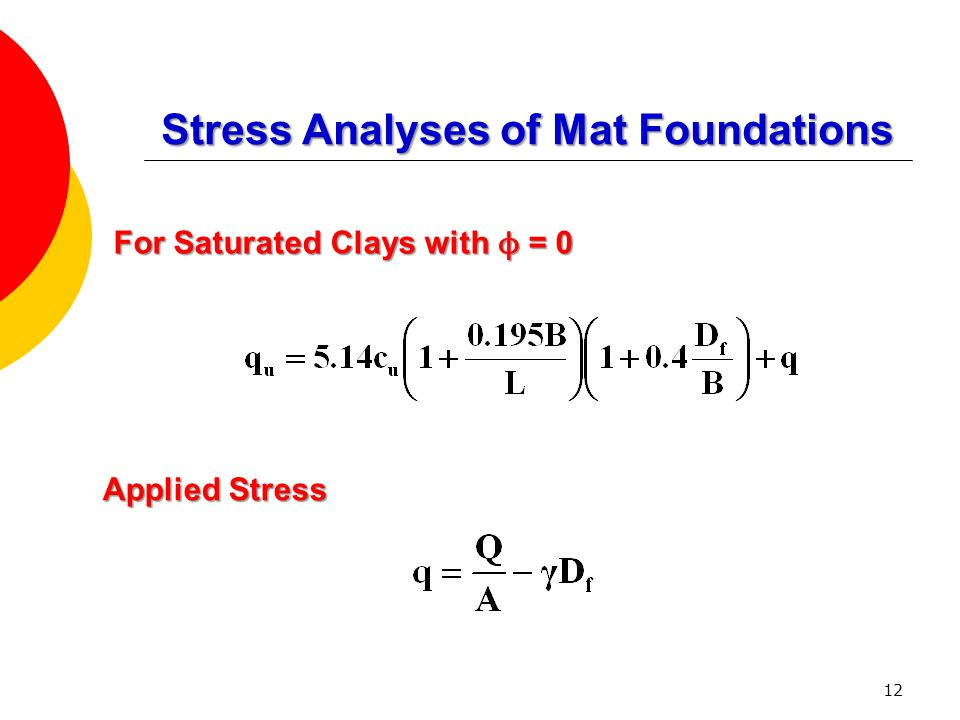 Stress Analyses of Mat Foundations