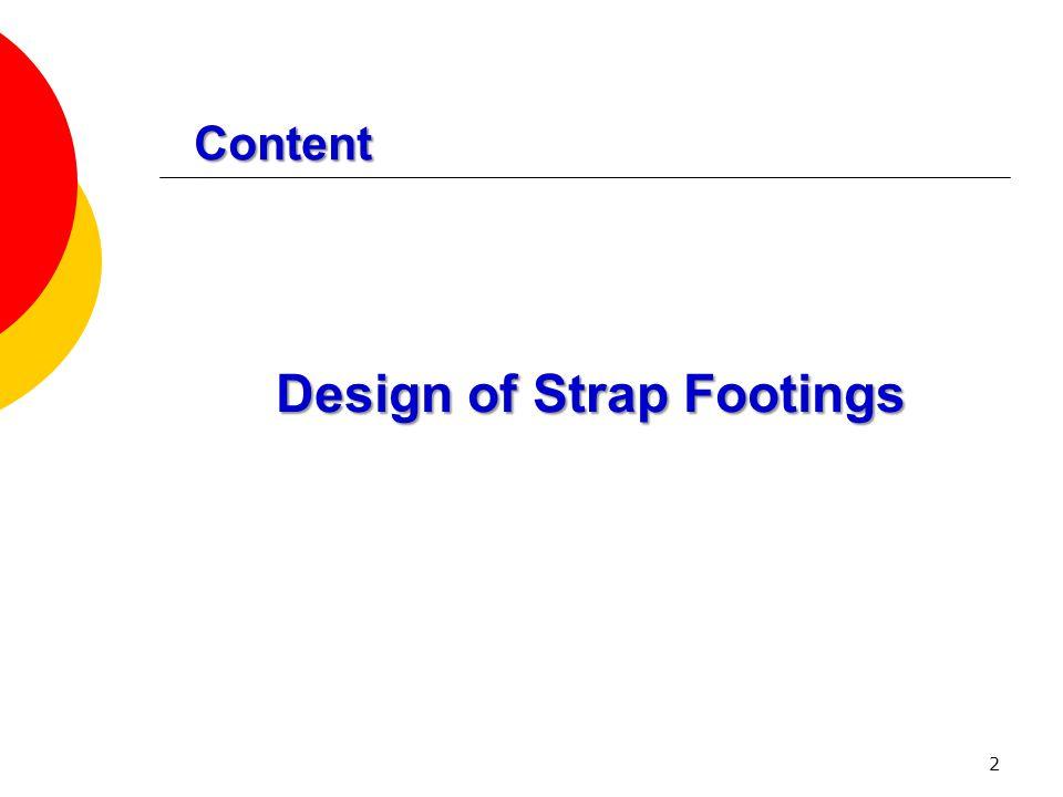 Design of Strap Footings