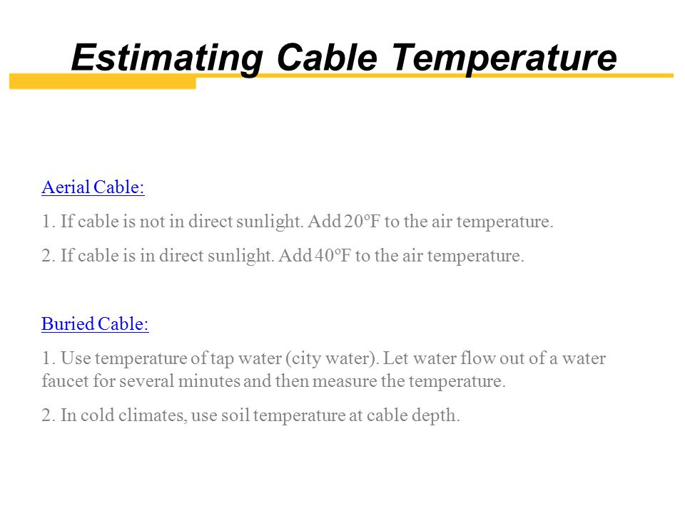 Estimating Cable Temperature