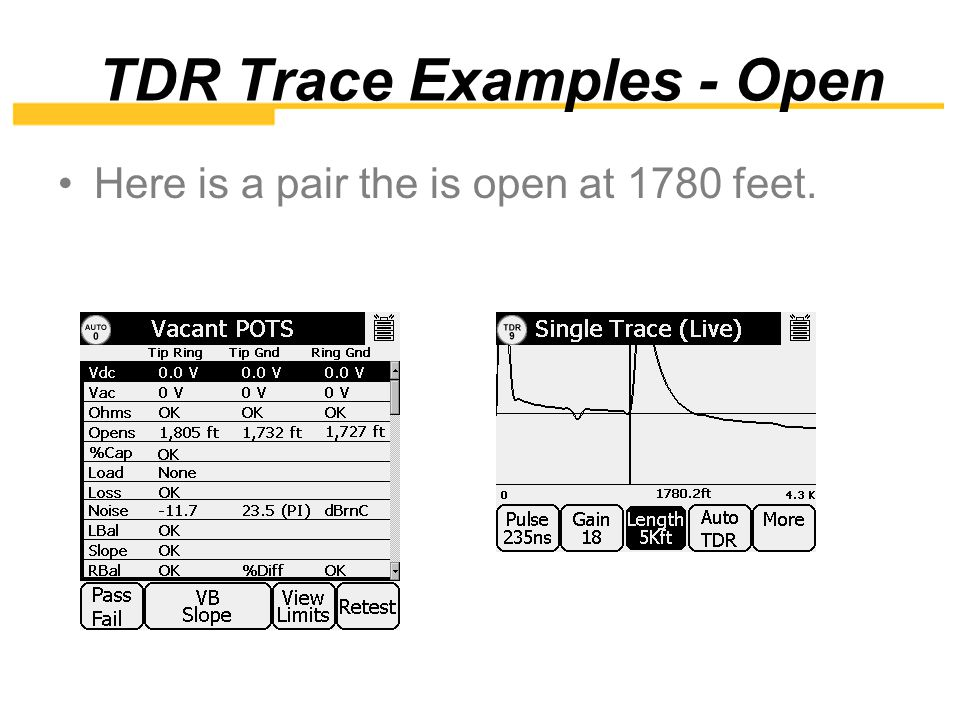 TDR Trace Examples - Open