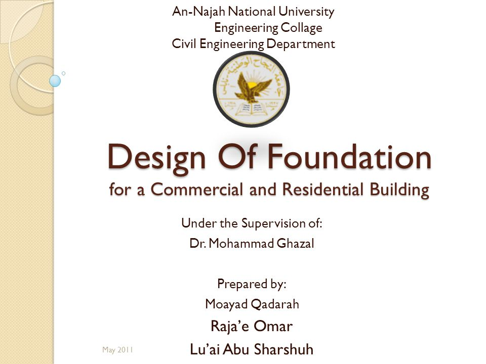 Design Of Foundation for a Commercial and Residential Building