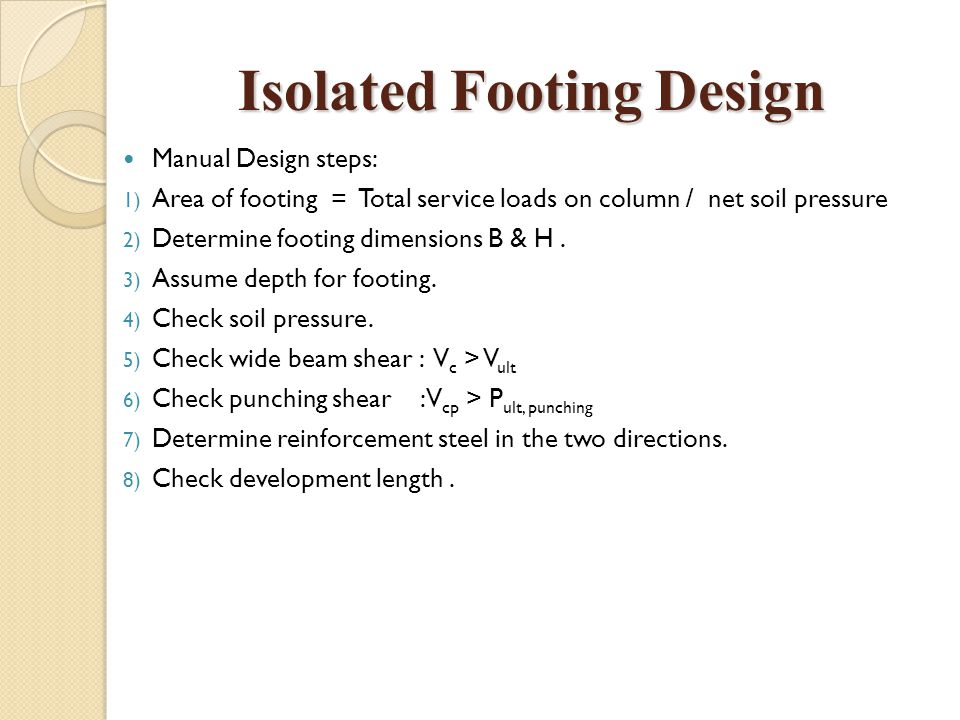 Isolated Footing Design