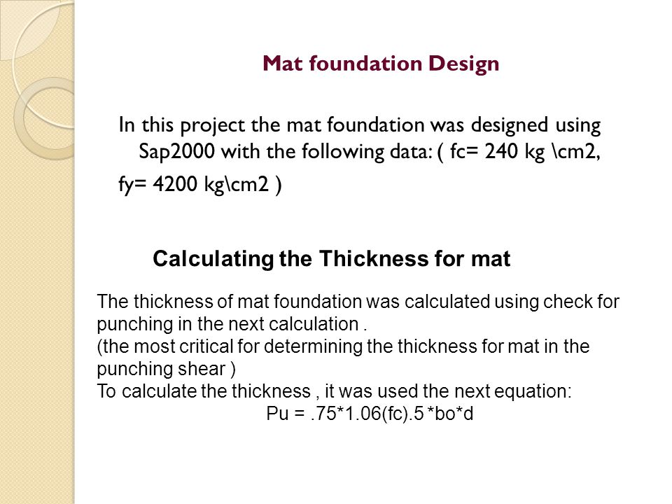 Calculating the Thickness for mat