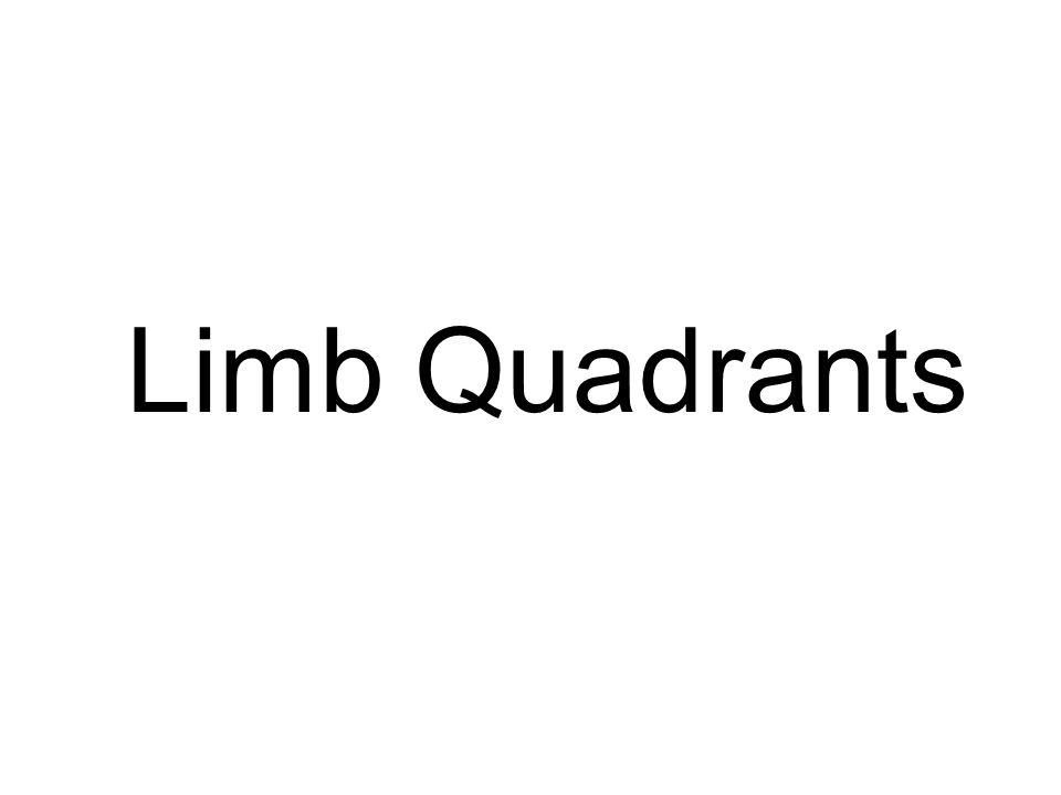 Limb Quadrants 1: Introduction