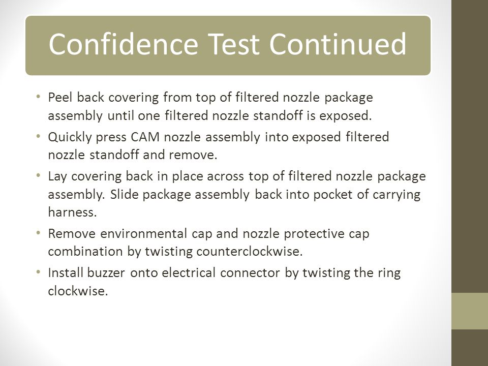 Confidence Test Continued
